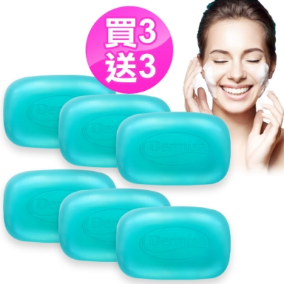 [限時搶購買3送3] Dermisa藍鑽爆水保濕皂6入組(85gx6)★市價3900