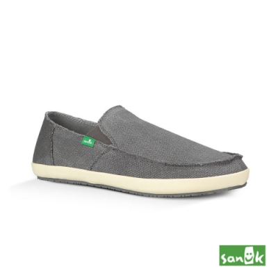 SANUK 男款US8 收邊款素面懶人鞋(灰色)