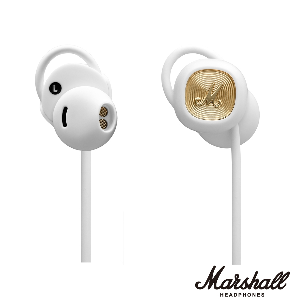 Marshall MINOR II BLUETOOTH 無線藍牙耳塞式耳機 冰雪白