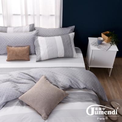 喬曼帝Jumendi 台灣製100%純棉加大四件式床包被套組(愜意午後)
