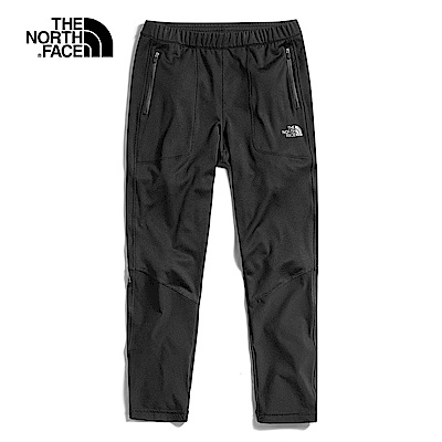The North Face北面男款黑色吸濕排汗針織長褲|3V7BKT0