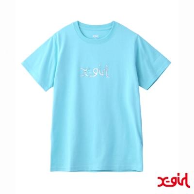 X-girl AURORA MILLS LOGO S/S REGULAR TEE短袖T恤-淺綠