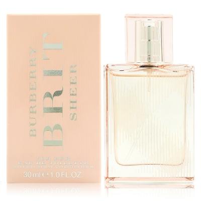 BURBERRY BRIT SHEER 粉紅風格女性淡香水30ml