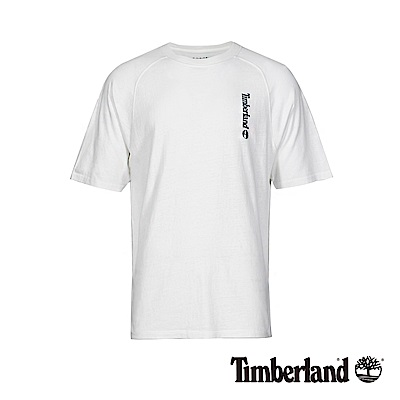 Timberland 男款白色季節印花品牌LOGO短T恤|A1X15