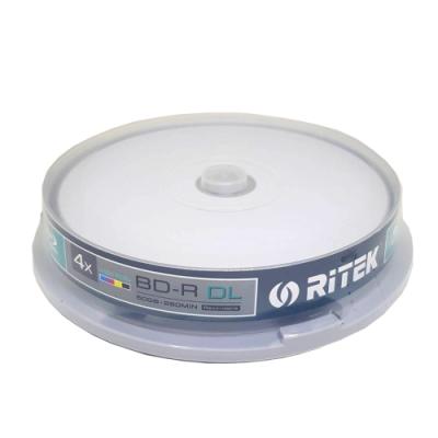 錸德 Ritek 藍光 X版 BD-R 4X DL 50GB 珍珠白滿版可印片 (10片)