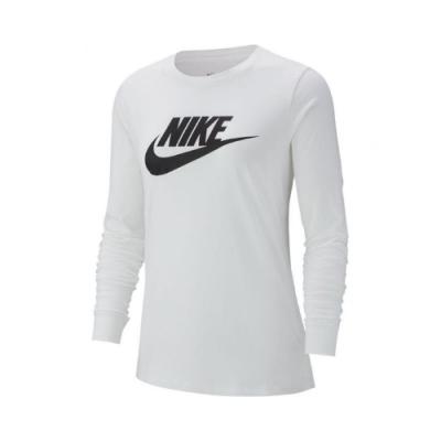 Nike 大學T Long Sleeve Shirts 女款 NSW 運動休閒 基本款 圓領 棉質 白 黑 BV6172100