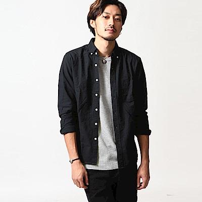 釦領牛津襯衫格紋素色長袖(11色) ZIP日本男裝