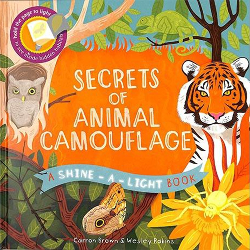 Secrets Of Animal Camouflage 透光書:動物偽裝篇精裝繪本