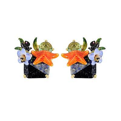 Les Nereides 動物花園系列 海洋花園藍寶石耳環 耳針式