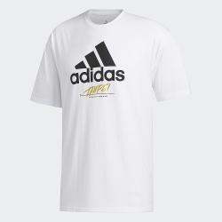 adidas 短袖上衣 運動 休閒 健身 訓練 男款 白 GJ0294 TAIPEI JOCKTAG
