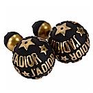 Dior JADIOR Dior tribales 復古鍍金黑色不對稱穿釦式耳環