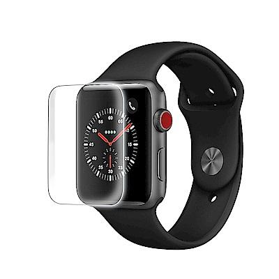 Apple Watch 全膠硬邊3D曲面全覆蓋超薄鋼化保護貼-42mm/全透明