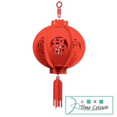 Time Leisure 農曆春節過年喜慶鏤空雕花燈籠 21cm/2入