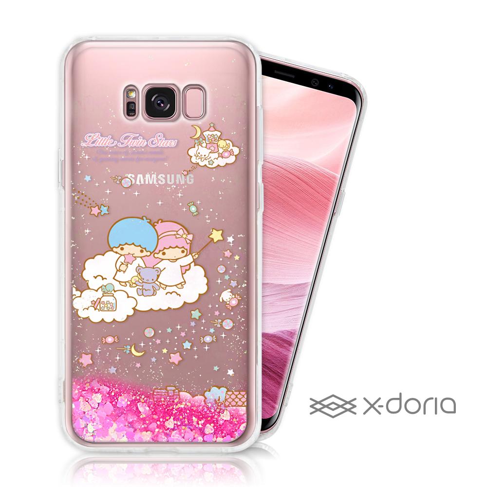三麗鷗 雙子星 SAMSUNG S8 Plus 亮片流沙手機軟殼 - 糖果