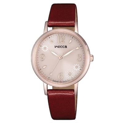 CITIZEN 星辰WICCA廣告款太陽能紅寶石腕錶30.2mm(KP5-166-90)