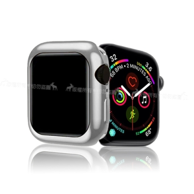 XUNDD 訊迪 Apple Watch 4 (40mm) 全包金屬色防摔軟殼 (星鑽銀)