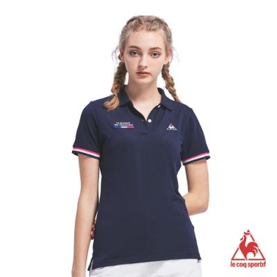 法國公雞牌短袖POLO衫 LOM2314239-女-藏青