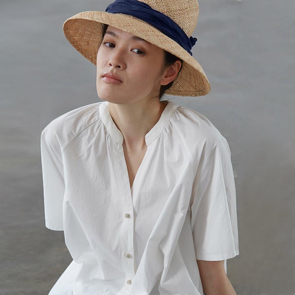 旅途原品_花開的聲音_原創設計A型寬鬆短袖襯衫-白色