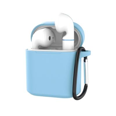 華為藍牙耳機 FlyPods/FreeBuds2 純色矽膠保護套(附吊環)