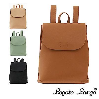 Legato Largo Hug me bag 輕柔質感皮革翻蓋式後背包