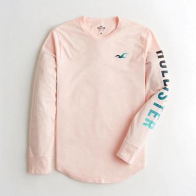 Hollister HCO 長袖 T恤 粉色  1434