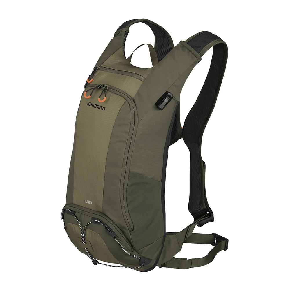 【SHIMANO】UNZEN 10L 自行車背包 (不含水袋) 橄欖綠