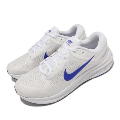 Nike 慢跑鞋 Zoom Structure 24 男鞋 輕量 透氣 舒適 避震 路跑 健身 白 藍 DA8535-100