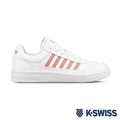 K-Swiss Court Chasseur休閒運動鞋-女-白/乾燥玫瑰