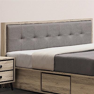 綠活居 利斯瑪時尚5尺亞麻布雙人床頭片(不含床底)-152x14x93cm免組