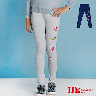 JJLKIDS 個性女孩拼貼內搭褲(2色)