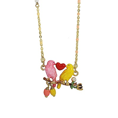 Les Nereides 動物花園系列 愛情金絲雀珍珠寶石項鍊