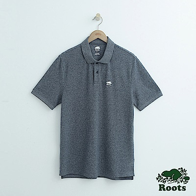 男裝Roots 經典短袖POLO衫-藍