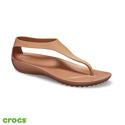 Crocs 卡駱馳 (女鞋) 瑟琳娜女士素面人字涼鞋 205468-860