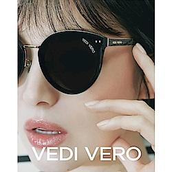 VEDI VERO 修臉款 太陽眼鏡 (黑配金)