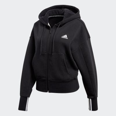ADIDAS 外套 連帽外套 慢跑 運動 健身 女款 黑 FR5120