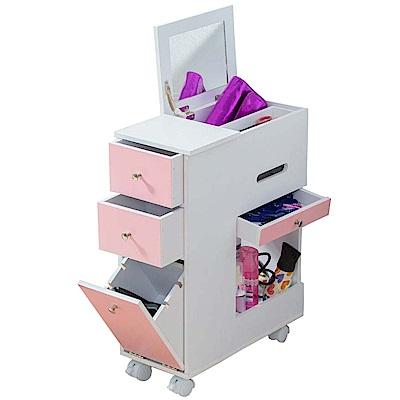 日式粉紅佳人- Anshome- 移動式化妝收納箱-BF-HY010PS