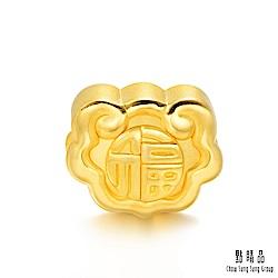 999純金 福字如意 黃金串珠