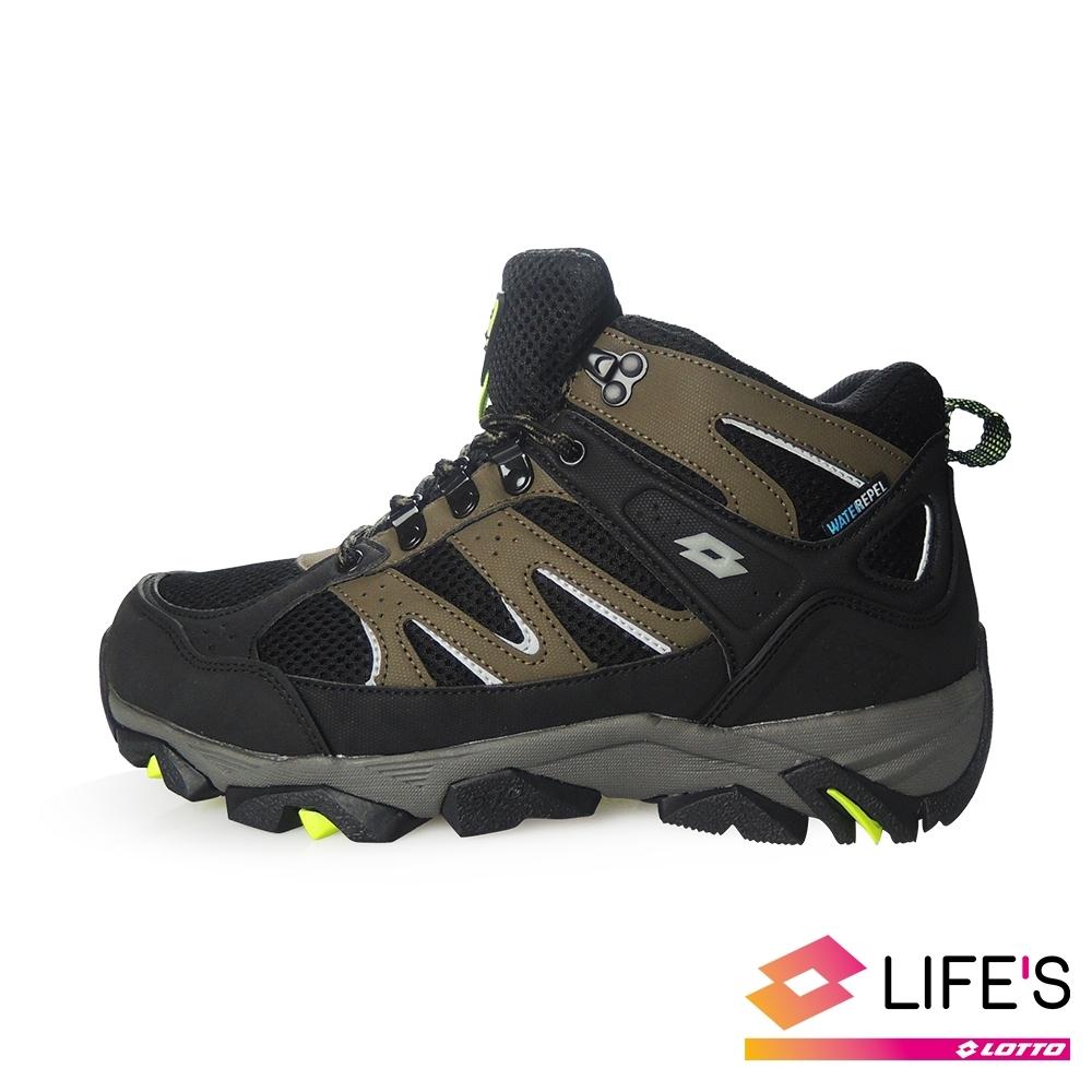 LOTTO 義大利 男 Sabre Mid 3 戶外登山鞋 (黑/軍綠 )