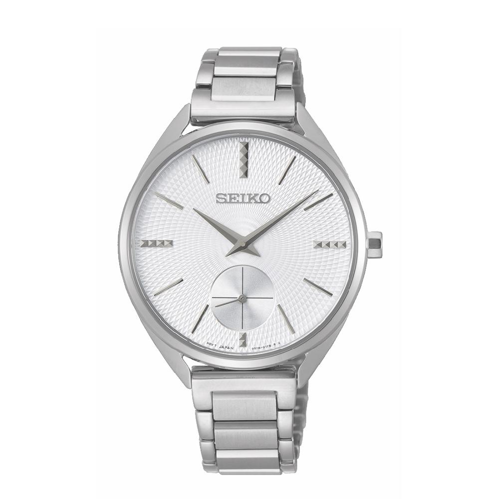 SEIKO精工 復古優雅小秒針腕錶6G28-00Y0S(SRKZ53P1)
