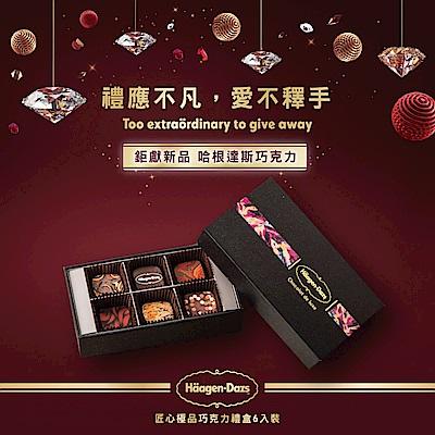 Haagen Dazs哈根達斯 極選巧克力-匠心極品巧克力禮盒(6入/盒)