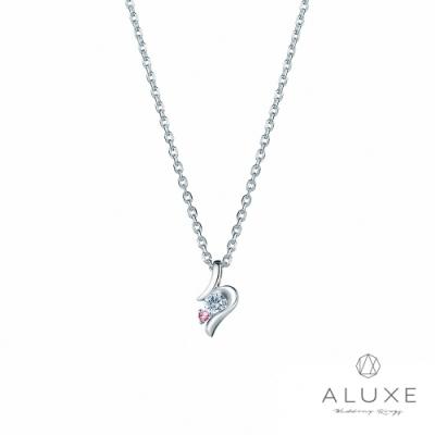 ALUXE亞立詩 18K金 甜蜜簡約時尚美鑽項鍊