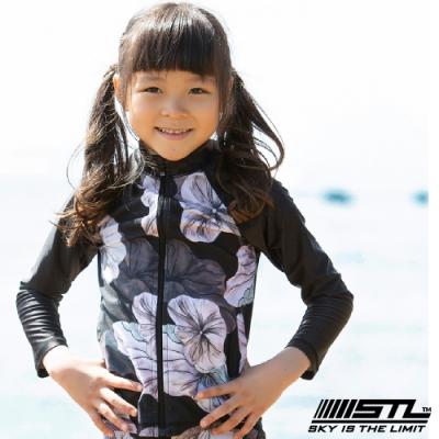 STL kids 兒童 韓國 海灘/海邊 機能運動戶外 防磨 水母衣外套 黑荷花