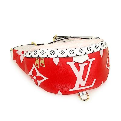 LV M44575 經典Monogram 大logo腰包(紅色)