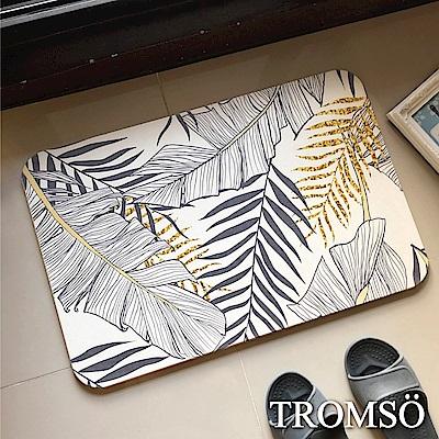 TROMSO珪藻土厚實吸水地墊-金枝玉葉