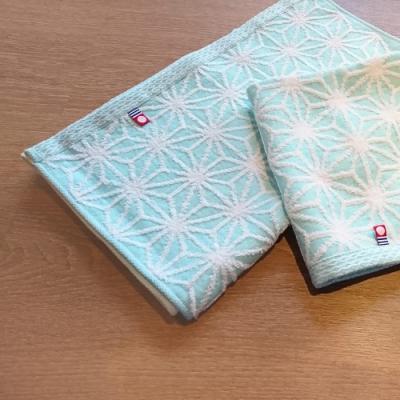 日本丸真 今治雪花毛巾-亮藍色
