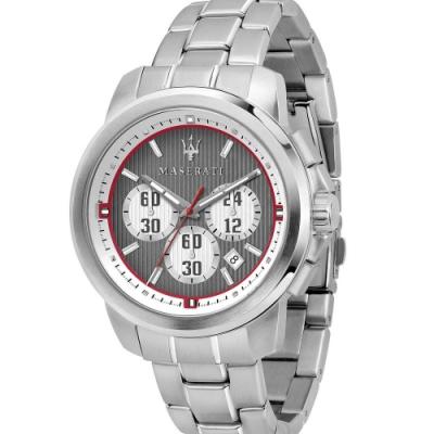 MASERATI TIME 瑪莎拉蒂/ACTIVE POLO三眼石英計時腕錶 R8873637003