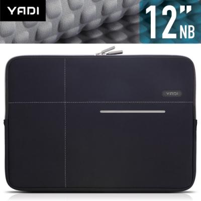 YADI 12吋NB筆記型電腦專用內袋_抗衝擊_防震機能_星夜黑