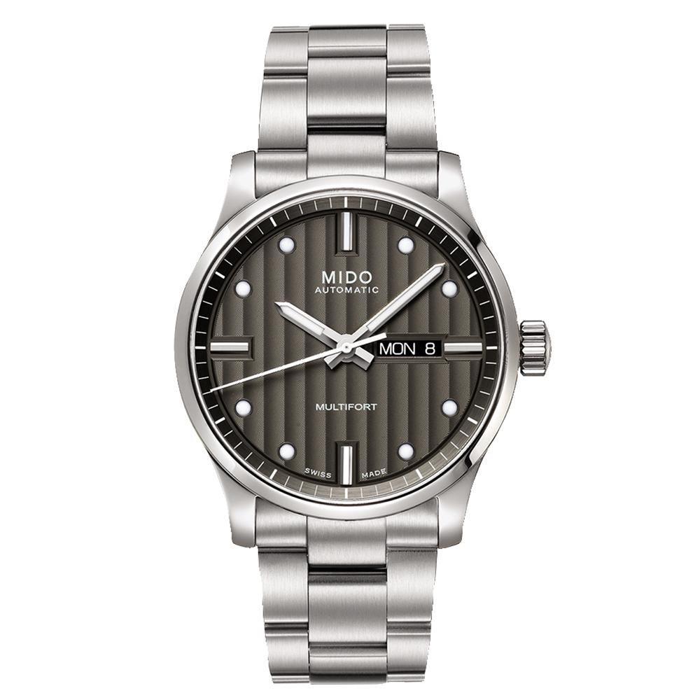 MIDO 美度 MULTIFORT 先鋒系列經典機械錶-灰黑/42mm