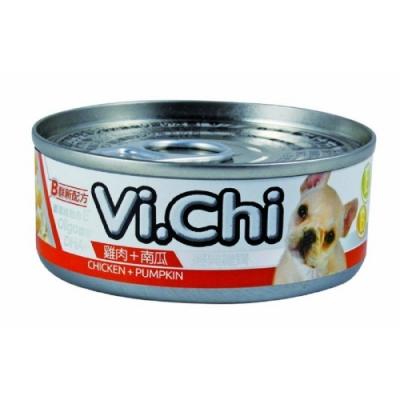 維齊Vi.Chi 《經典 機能狗罐-雞肉+南瓜》80g 24罐組