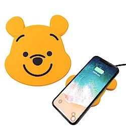 Disney迪士尼可愛大頭無線充電座/充電板_維尼